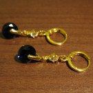 Gorgeous Purple Amethyst & Diamond Dangle Pierced Earrings Beautiful & New #D438