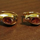Stunning Red Ruby Water Drop Pierced Earrings Beautiful & New #D455