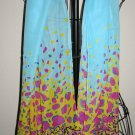 Beautiful Blue & Purple Sheer Neck Scarf New! #D541