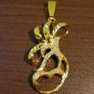 Gorgeous Gold Florentine Pendant NEW! #D583