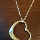 Sizzling Silver Sliding Heart Necklace & Pendant NEW! #D587