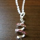 Dazzling Pink Sapphire Spiral Necklace & Pendant NEW! #D562