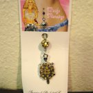 Belly Navel Ring Body Piercing Yellow Citrine Turtle Hot! #D507