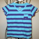 Adorable Aqua & Purple Stripe Top by Old Navy Child Size 5 Nice! #X220