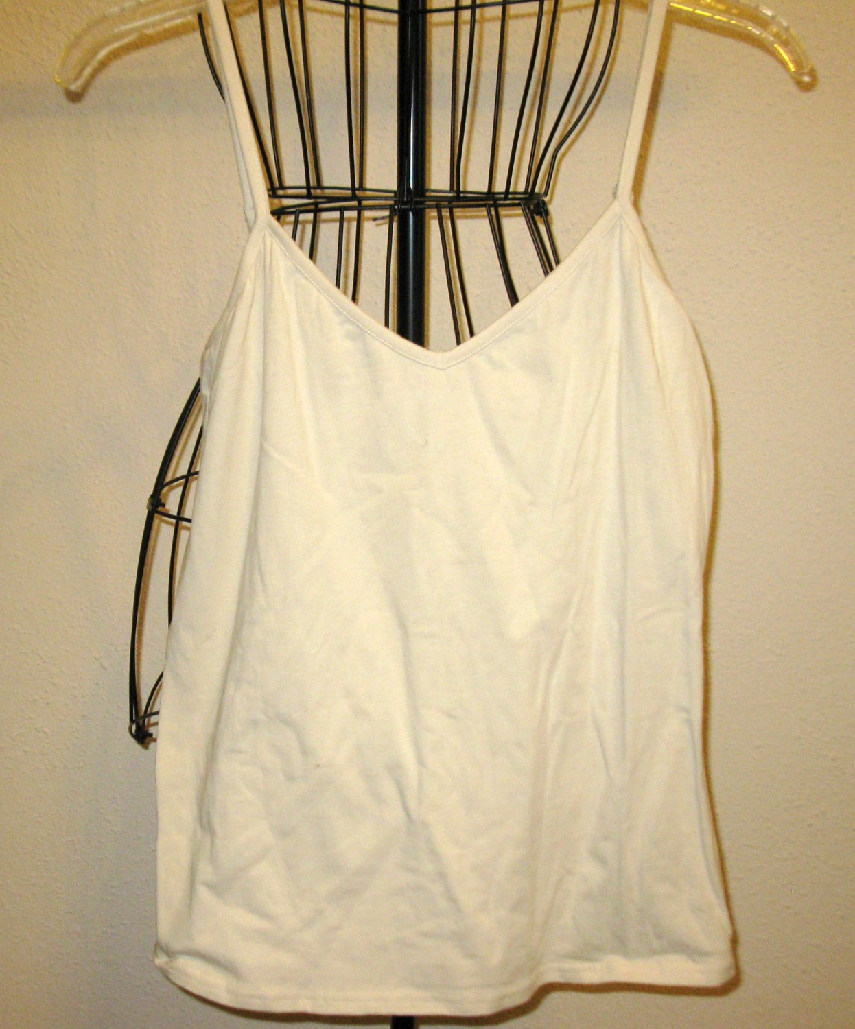 Off White Spaghetti Strap Top Blouse by Lane Bryant Size M Nice! #X193