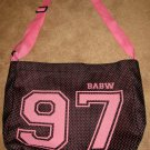 Pretty Black & Pink Tote Bag Carry All for Child/Adult by Babw New! #X203