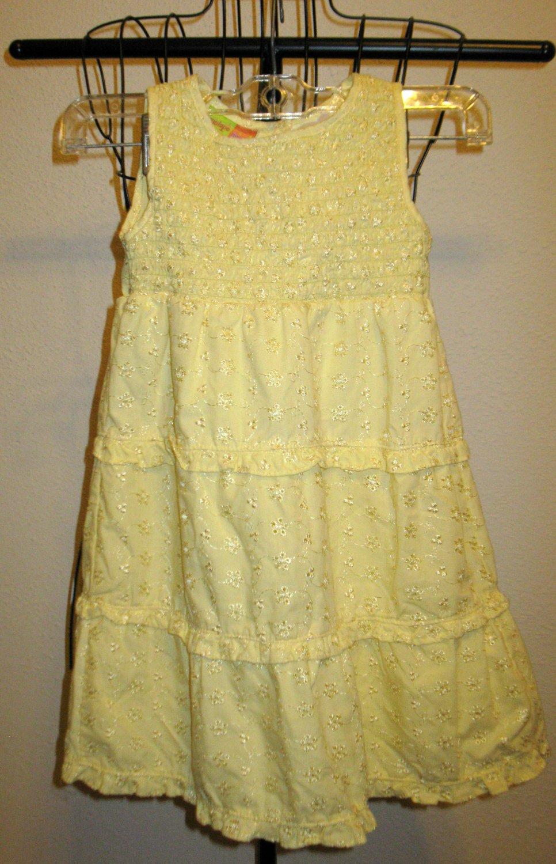 Beautiful Yellow Smocked Dress by Penelope Mack Size 5 New! #X173