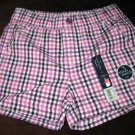 Adorable Pink Checkered Shorts by Faded Glory Size 8 New! #X200