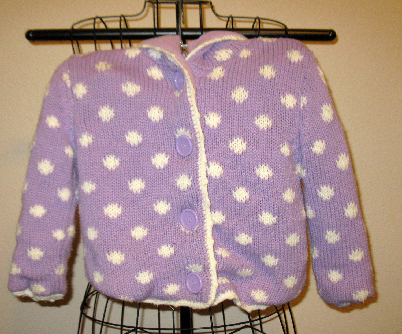 Beautiful Purple Sweater Hoodie by Feu Fallet Child Size 5 Nice! #X166