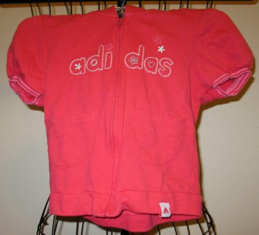 Pink Short Sleeve Hoodie by Adidas Child Size 4T Nice! #X170