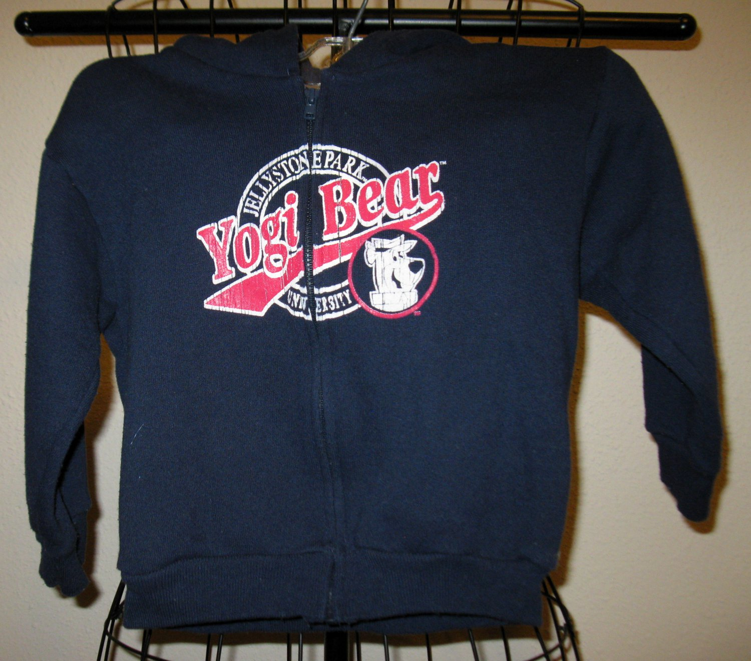 Navy Blue Yogi Bear Hoodie by Hanna Barbera Child Size 3T Nice! #X169