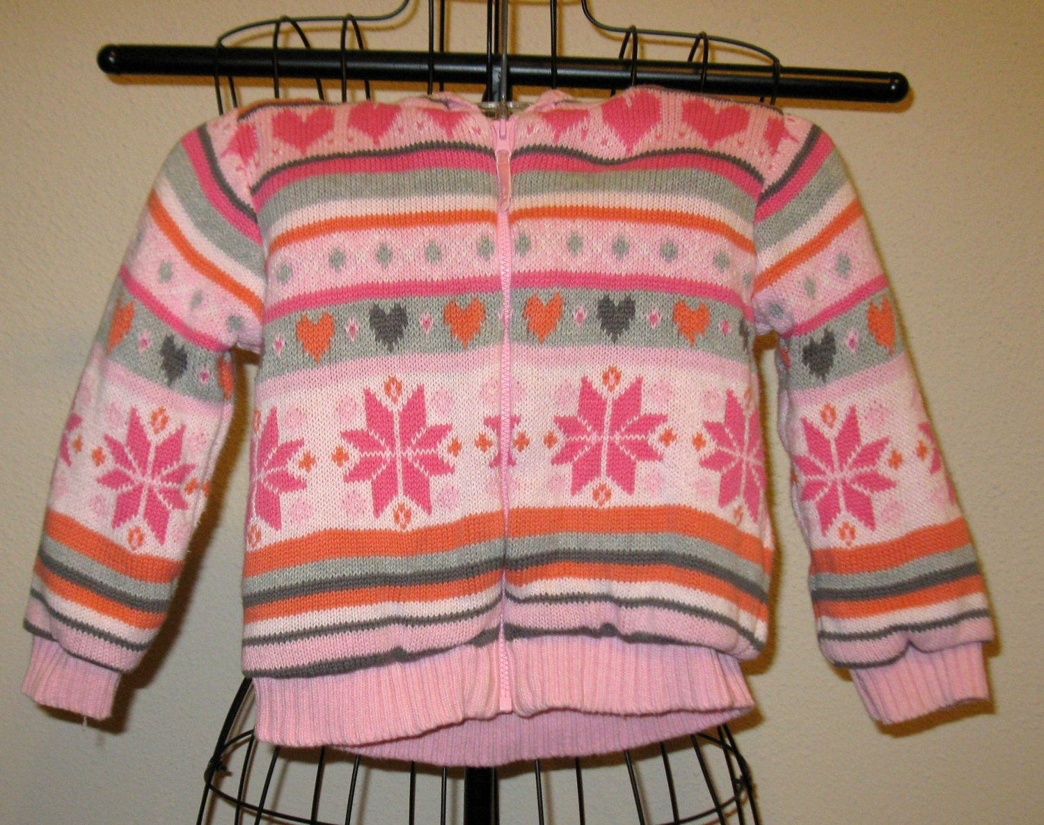 Adorable Pink Sweater Hoodie by Wonder Kid Child Size 3T Nice! #X167