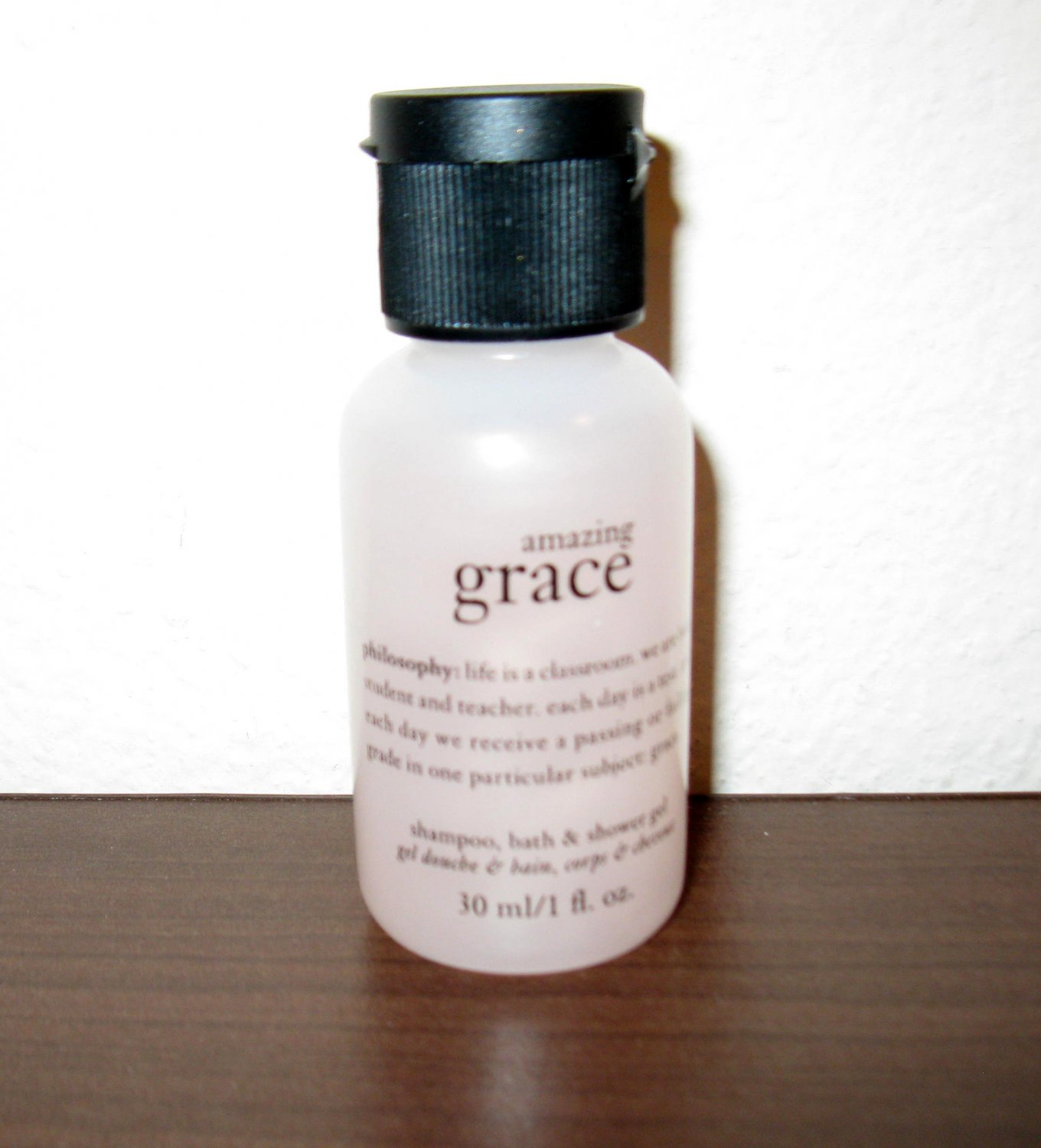 Philosophy AMAZING GRACE Travel Size 30ml/1 oz Shampoo Bath Shower Gel New #T997