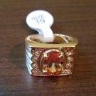Beautiful Men's Gold Peach Topaz Ring Size 9 NEW! #D574B