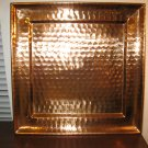 Taste of Home Solid Hammered Copper Square Tray 13.5 x 13.5 #6006 New! #T1087