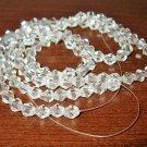 Sparkling Clear Crystal Beads 23 in String Excellent Quality New! #D946