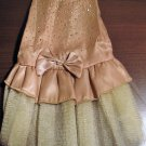 Adorable Champagne Beige Evening Dress for Puppy Size XS New! #D948