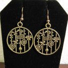 Lovely Lollipop & Flower Charm Earrings 1.75 in New! #D932