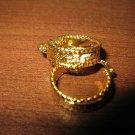 Lovely Gold Greek Key Florentine Hoop Earrings Earrings 1 in New! #D982
