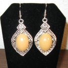 Beautiful Peach Opal Teardrop Earrings New! #D892