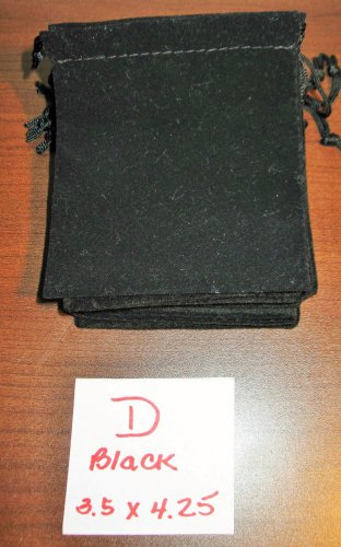 Black Jewelry Bag Pouch 1 Piece (3.5 x 4.25 in) New! #D1029D