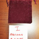 Maroon Jewelry Bag Pouch 1 Piece (3 x 2.75 in) New! #D1029I