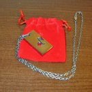 Titanium Capricorn 18 in Unisex Silver Necklace New! #R43