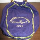 """Collectible Purple Crown Royal Drawstring Bag """"Crowning the Millenmium 2000"""" R45"""