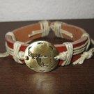 English Tan Leather Capricorn Punk Surfer Bracelet New & Hot #D825