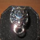 Unique Silver Wolf Head Biker Unisex Ring Size 9 New & Hot! #D963