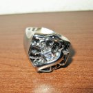 Unique Silver Cross Men's Rhinestone Ring Size 13 New! #D1021