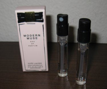 Estee Lauder Modern Muse Eau de Parfum Spray 2X 05oz/1.5ml Mini Spray NIB #K42