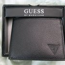 GUESS Men&#39;s Black Leather Wallet - Bifold - New In Box