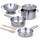 Melissa & Doug Let's Play House! Stainless Steel Pots & Pans Play Set