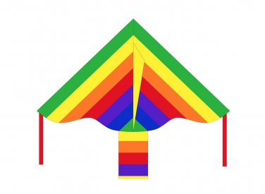 "HQ Kites Eco Line: Simple Flyer Rainbow 33"" Kite"