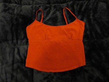 THE LIMITED Red Built-In Bra Tank Top Medium