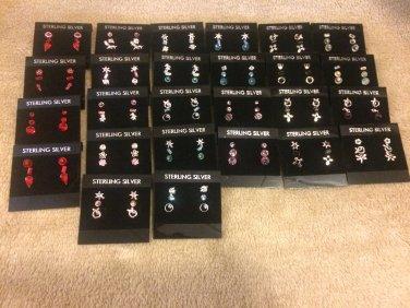 Genuine Swarovski Crystal & Sterling Silver Stud Earrings