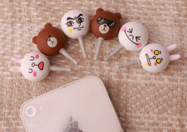 [SPRING SALE] LINE Global Message Anti Dust Plug for iPhone4, 5, iPad, smartphones