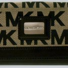 Michael Kors Black Brookville Carryall Signature Logo Wallet
