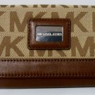 Michael Kors Brown Brookville Carryall Signature Logo Wallet