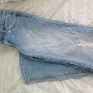 Wet Seal Distressed, Studded Jeans Size 00