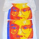 Amazing ANDY WARHOL Both Side PRINTED  Stylish White Multicolor T-shirt Size S