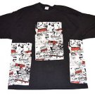 Punk Collage Black Custom Punk Rock Vintage Style T-shirt Size 2XL