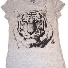 The Tiger Grey Girl  Stylish T-Shirt Top Size M