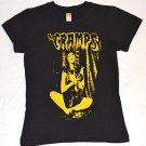 THE CRAMPS Punk Rock Custom Black Yellow Girl  T-shirt Top Size M