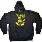 The Cramps Punk Rock Black Yellow Hooded Sweatshirt Sz L