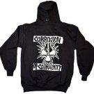 CORROSION OF CONFORMITY Hard Rock Punk Hoodie Hooded Sweatshirt Black Sz L