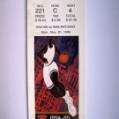 Basketball Ticket Stub KNICKS 1994-95 KNICKS vs SAN ANTONIO GAME K4 Nov.21, 1994