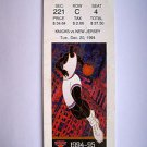Basketball Ticket Stub KNICKS 1994-95 KNICKS vs NEW JERSEY GAME K10 Dec.20, 1994