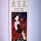 Basketball Ticket Stub KNICKS 1994-95 KNICKS vs MIAMI GAME K38 Apr. 11, 1995